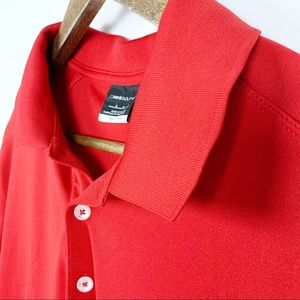 Nike Golf Dry Fit Red Mens Polo